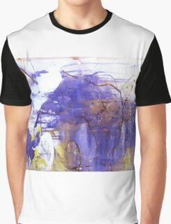 Baby Elephant loves his Mama - Original mixed media Abstract painting  Graphic T-Shirt