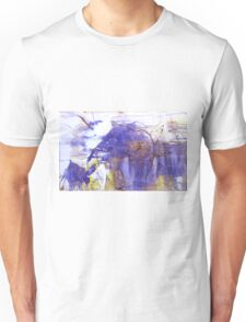 Baby Elephant loves his Mama - Original mixed media Abstract painting  Unisex T-Shirt