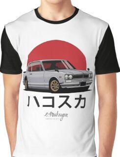 Nissan Skyline GT-R hakosuka (silver) Graphic T-Shirt