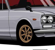 Nissan Skyline GT-R hakosuka (silver) Sticker