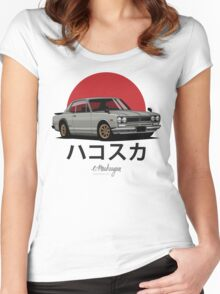 Nissan Skyline GT-R hakosuka (beige) Women's Fitted Scoop T-Shirt