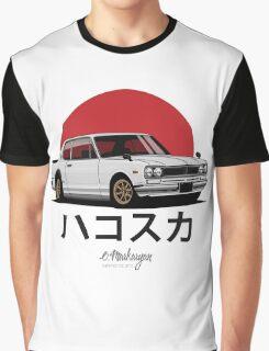 Nissan Skyline GT-R hakosuka (white) Graphic T-Shirt