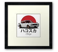 Nissan Skyline GT-R hakosuka (white) Framed Print