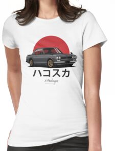 Nissan Skyline GT-R hakosuka (black) Womens Fitted T-Shirt