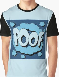 Bubble with Expression Poof in Vintage Comics Style Graphic T-Shirt