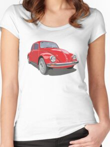 Red Bug Women's Fitted Scoop T-Shirt