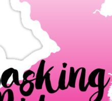 Basking Ridge Pink Ombre State Sticker
