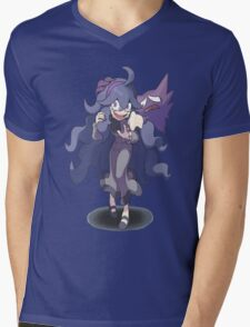Pokemon X and Y - Hex Maniac and Haunter Mens V-Neck T-Shirt