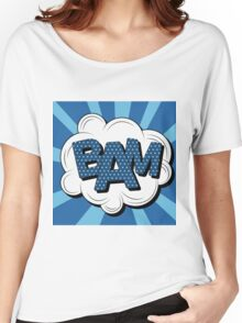Bubble with Expression Bam in Vintage Comics Style Women's Relaxed Fit T-Shirt