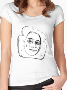 CUTE LAUREN JAUREGUI SKETCH Women's Fitted Scoop T-Shirt