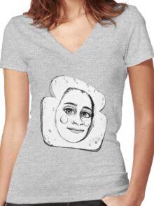 CUTE LAUREN JAUREGUI SKETCH Women's Fitted V-Neck T-Shirt