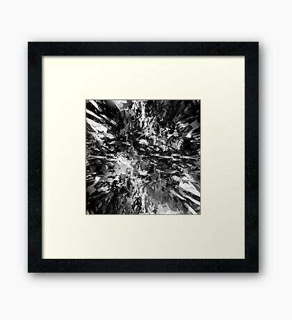 abstract 8/16 bw Framed Print