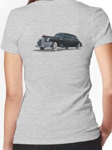 Retro limousine Women's Fitted V-Neck T-Shirt