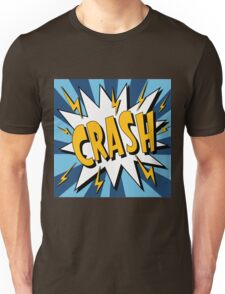 Bubble with Expression Crash in Vintage Comics Style Unisex T-Shirt