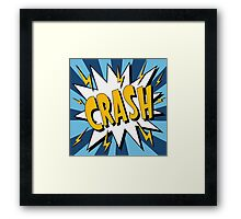 Bubble with Expression Crash in Vintage Comics Style Framed Print