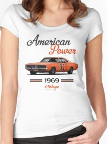 Dodge Charger 69 General Lee Women's Fitted Scoop T-Shirt