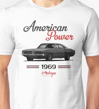 Dodge Charger 69  (black) Unisex T-Shirt