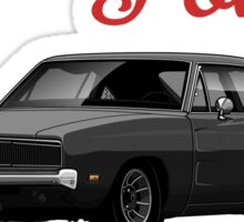Dodge Charger 69  (black) Sticker