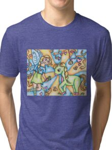 The Fairy and her Pony Tri-blend T-Shirt