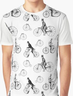 Vintage Bicycles Repeat Pattern Graphic T-Shirt