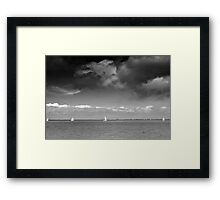 Four Boats Framed Print