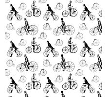 Vintage Bicycles Repeat Pattern Photographic Print