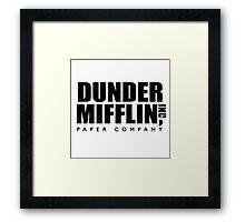 Dunder Mifflin Paper Company Logo Framed Print