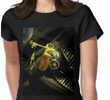Steampunk Ladies Hat 2.0 Womens Fitted T-Shirt