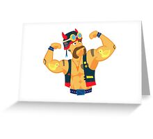 Biker with tattoos Greeting Card