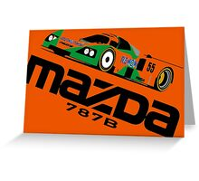 MAZDA 787B - 1991 LE MANS WINNER Greeting Card