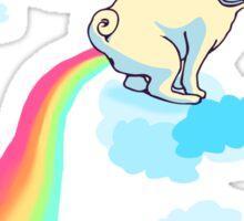 rainbow pug #2 Sticker