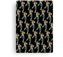 Art Deco Woman Repeating Pattern Canvas Print