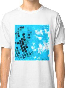 Blue Funky Disco Ball Classic T-Shirt
