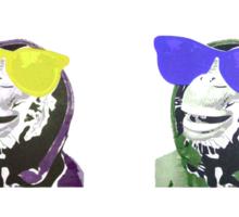 Chimps be Chillin - Grid Colours Sticker