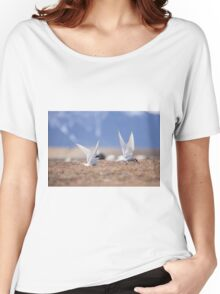 Beautiful view of icebergs in Jokulsarlon glacier lagoon, Iceland Women's Relaxed Fit T-Shirt