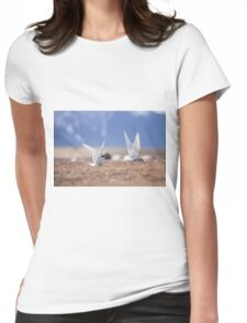 Beautiful view of icebergs in Jokulsarlon glacier lagoon, Iceland Womens Fitted T-Shirt