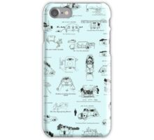 Heath Robinson Motorcars Repeating Pattern iPhone Case/Skin