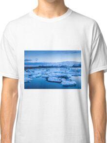 Beautiful view of icebergs in Jokulsarlon glacier lagoon, Iceland Classic T-Shirt
