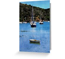 Luxury yachts in Watercolor Greeting Card