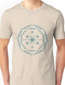 Mandala blue floral   Unisex T-Shirt