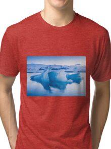 Beautiful view of icebergs in Jokulsarlon glacier lagoon, Iceland Tri-blend T-Shirt