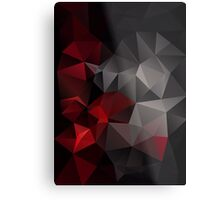 Abstract background of triangles polygon wallpaper in black red colors Metal Print
