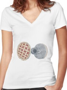 Pie Fighter Women's Fitted V-Neck T-Shirt