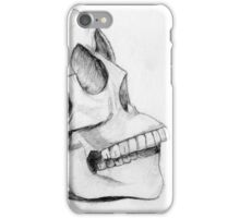 head skull pencil drawing iPhone Case/Skin