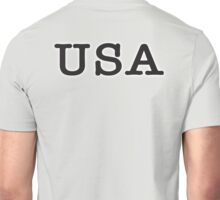 USA, United States of America, Typewriter Font, Pure & Simple Unisex T-Shirt
