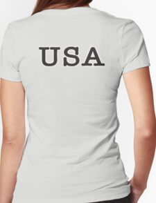 USA, United States of America, Typewriter Font, Pure & Simple Womens Fitted T-Shirt