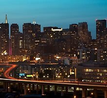 San Francisco at Night by Dmitry Shuster