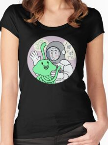 New friend? Women's Fitted Scoop T-Shirt