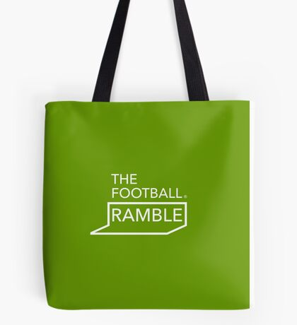 Ramble logo white on green – bag Tote Bag
