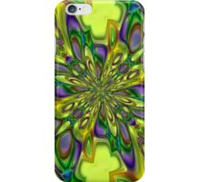 Green square digital ornament iPhone Case/Skin